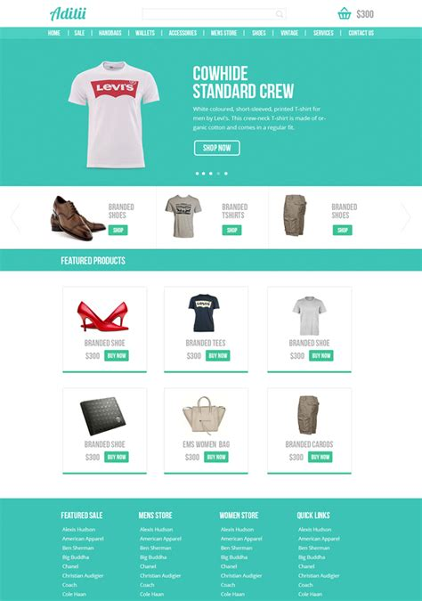 flat design template psd flat design inspired psd web templates for free