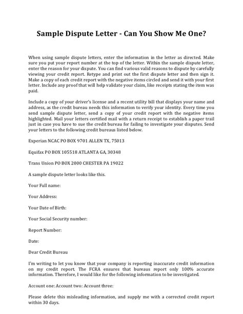 Credit Repair Dispute Letter Templates Sle Credit Dispute Letter Template Credit Repair Secrets Exposed Here Credit Repair