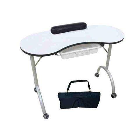 nail tech desk manicure table portable nail technician desk workstation with bag wrist rest ebay