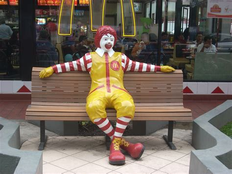 ronald mcdonald bench jon hamm poses with his own shadow at mad men statue
