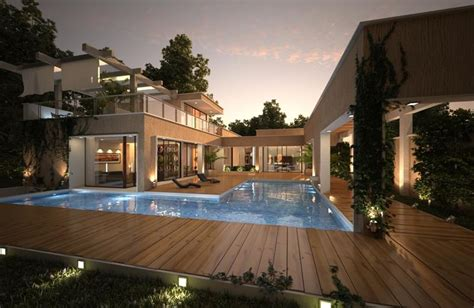 25 awesome exles of modern house 25 awesome pools with equally awesome decks