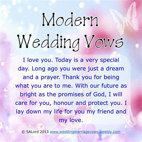 Wedding Vows Modern by Modern Wedding Marriage Vows Sle Vow Exles