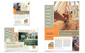home builder free home building carpentry flyer ad template design