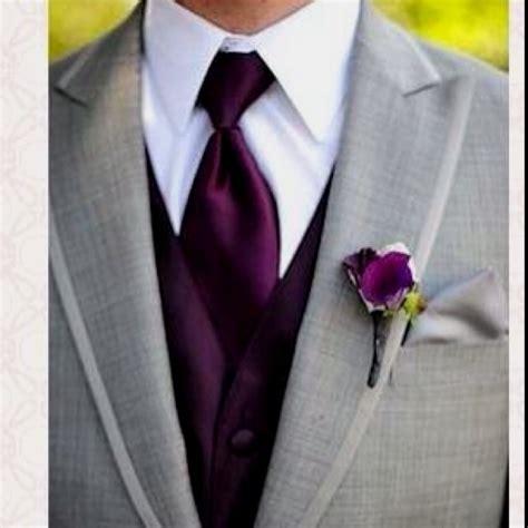 mens warehouse monochrome purple wedding color inspiration tuxedo
