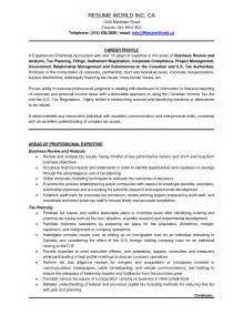 resume templates for chartered accountants
