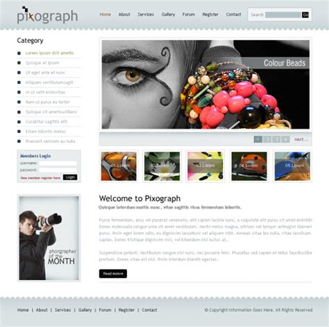 Photograph Studio Webpage Template 6232 Art Photography Website Templates Dreamtemplate Studio Website Template