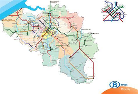 belgian rail map rail belgium map