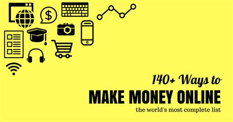 Make Money Online List - ways to make money online min work from home journey