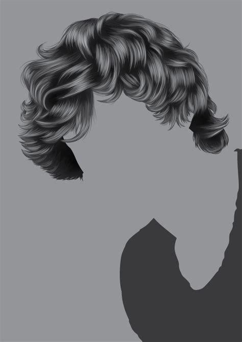 short wavy hair photoshop brushes how to render short detailed hair in adobe illustrator