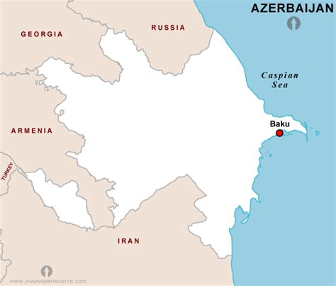 baku on world map free azerbaijan map map of azerbaijan open source