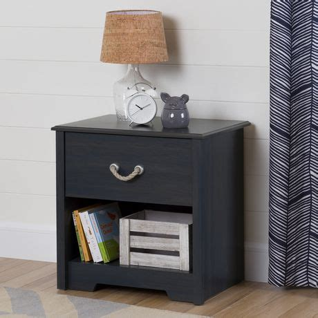 Bedroom Furniture Southton South Shore Aviron Blueberry 1 Drawer Nightstand Walmart Ca