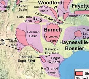 texas shale map texas and fracking sourcewatch