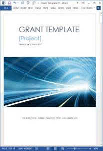 grant proposal template ms word with free cover letter
