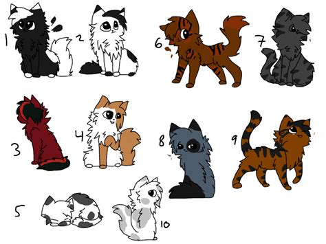 cat characters cat character adopts closed by warriorcatniss on deviantart