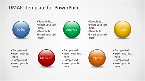 dmaic template ppt dmaic template for powerpoint slidemodel