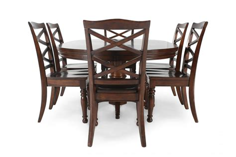Five Piece Dining Room Sets ashley porter five piece round dining set mathis