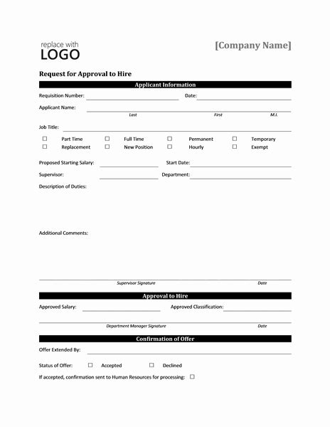 Request For Template Microsoft Word by Work Hire Approval Request Form Templates Microsoft