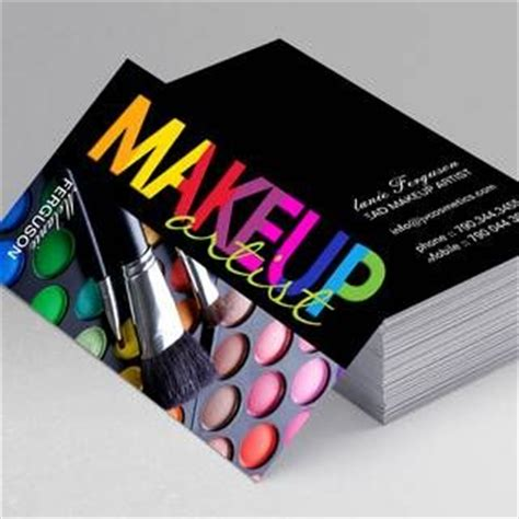 freelance makeup artist business card templates create your own makeup artist business cards all