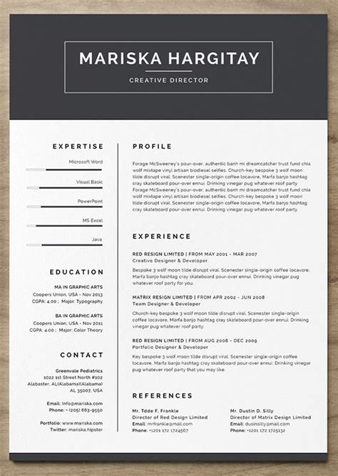 Free Creative Resume Templates by 25 More Free Resume Templates To Help You Land The