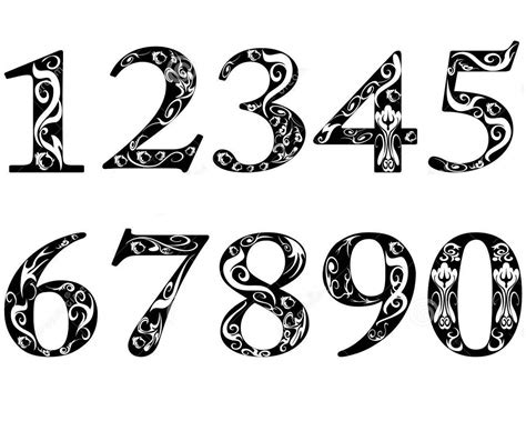 vintage tattoo numbers pictures of number 1 10 activity shelter