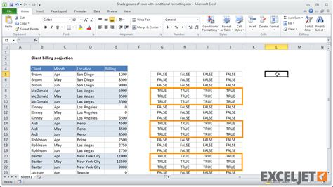 excel format group rows excel tutorial shade groups of rows with conditional
