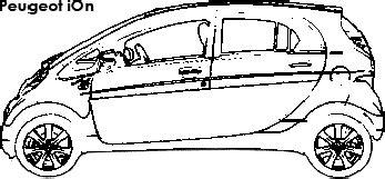 nissan leaf coloring pages miev electric car sh3 me