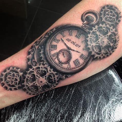 pocket watch tattoos designs 26 steunk designs ideas design trends