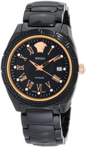 Ac 8512 Rosegold Black versace mens 01ac9d009 sc09 dv one automatic ceramic gold plated black best