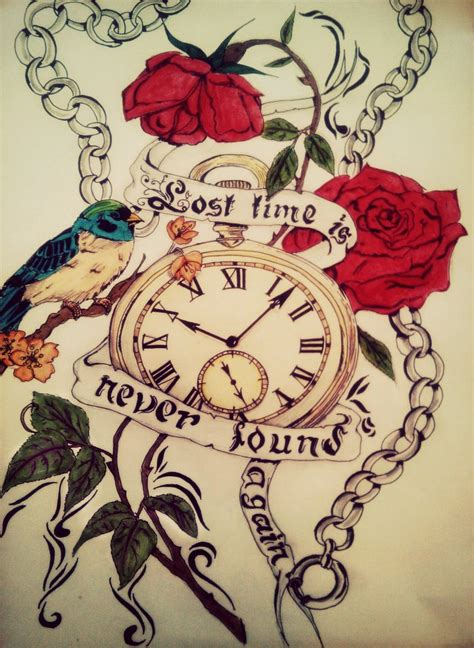 love always tattoo designs lost time is never found again by forever on