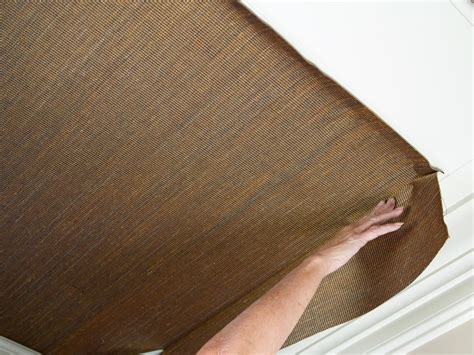 how to hang wallpaper on a ceiling how tos diy how to install grasscloth on a coffered ceiling hgtv