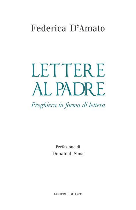 lettere al padre cop lettere al padre 187 ianieri edizioni