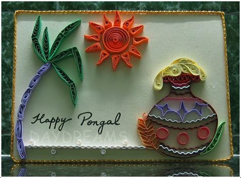 how to make pongal greeting card daydreams pongal greetings