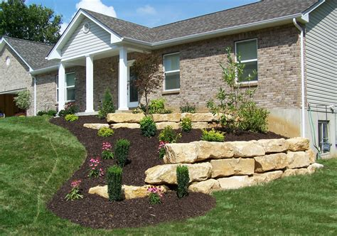 Boulder Retaining Walls Landscaping St Louis Landscape A And S Landscaping