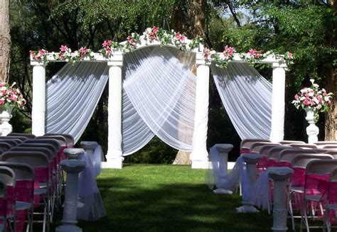 Outdoor Wedding Ceremony Decorations by Diy Outdoor Wedding Decorations Ideal Weddings