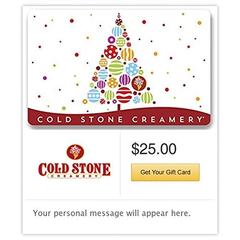 Cold Stone Gift Card Walmart - cold stone christmas gift cards e mail delivery online shopping rocks