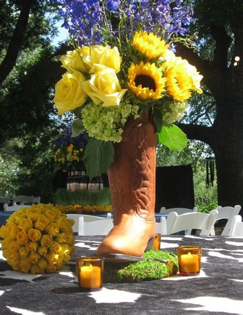 Cowboy Boot Vase Wedding Decorations by 17 Best Ideas About Cowboy Boot Centerpieces On