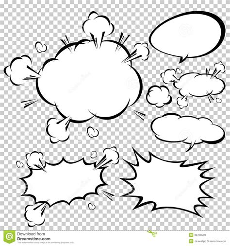 comic speech bubbles vector illustration stock