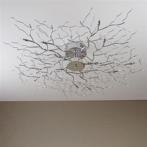 ceiling lamp tree light chrome halogen branch new
