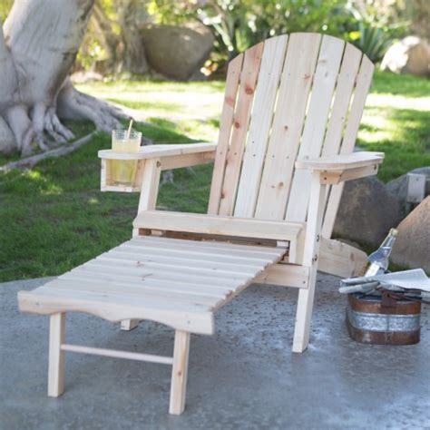 ottoman with cup holder coral coast big adirondack chair with pull out