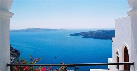 veranda view santorini veranda view to blue fira santorini water fira