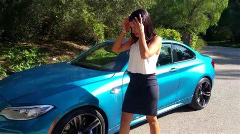 bmw light blue metallic bmw m2 review exhaust sound blue metallic