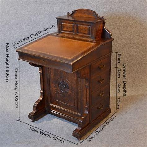 antique study table antique davenport desk oak pedestal