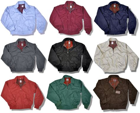 Jaket Harrington Redcalmer Original Brown 1 classic mod skin harrington jacket tartan lining 9 colours