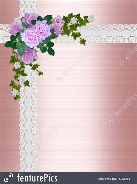 wedding invitations with pink roses illustration of satin and lace pink roses wedding invitation