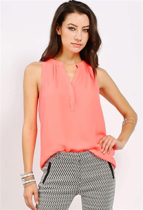 Limited Basic Chiffon Blouse sleeveless basic chiffon blouse shop new and now at papaya clothing