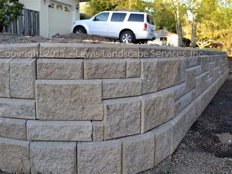 Interlocking Concrete Blocks Home Depot Gorgeous Retaining Wall Blocks Home Depot On Retaining