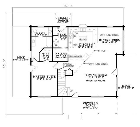 2 Bedroom Cabin Floor Plans Plan 110 00928 2 Bedroom 2 Bath Log Home Plan