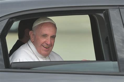 the pope and the maryland pope francis rides to washington in a fiat ny daily news