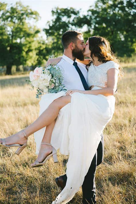 ebony heaths intimate outdoor wedding