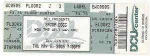 Concert Tickets File Snoop Dogg Concert Ticket Jpg Wikimedia Commons